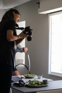 Taking turns during the food photograhpy workshop, working on our settings and learning composition.