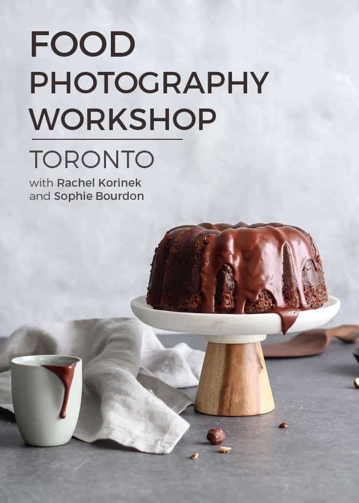 Thinking about stepping up your photography game? Try a food photography workshop!