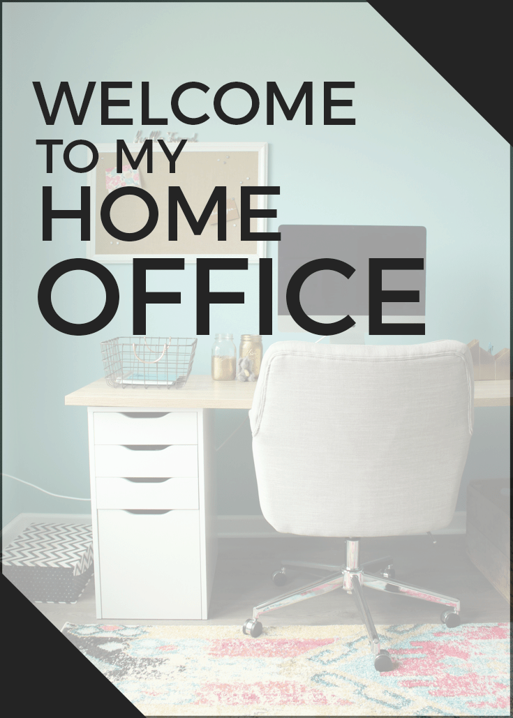 New and colorful HOME OFFICE! A happy space transformed with laminate oak flooring and colorful accents.