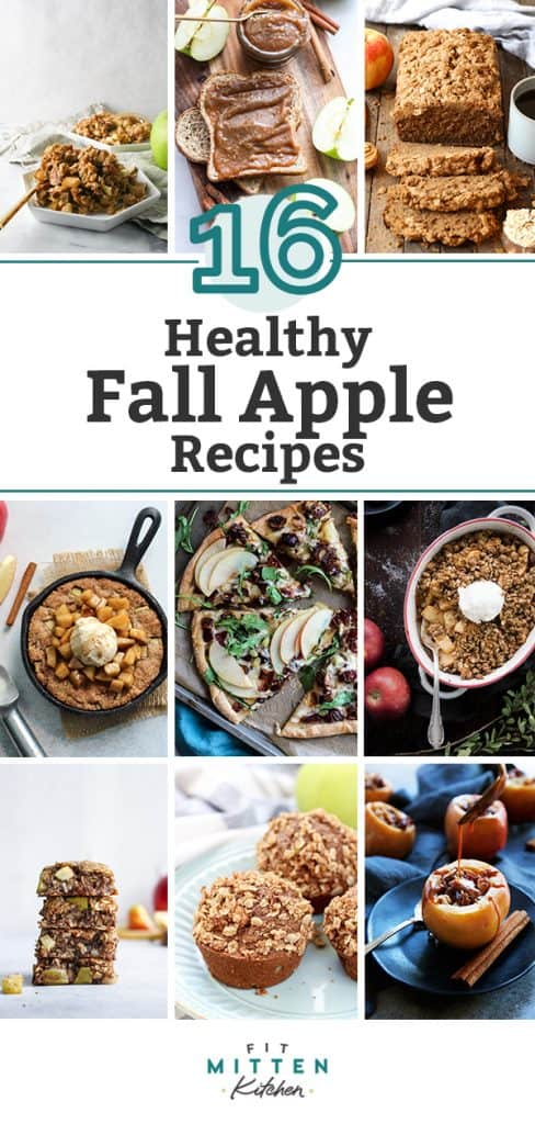 A roundup of 16 healthy fall apple recipes