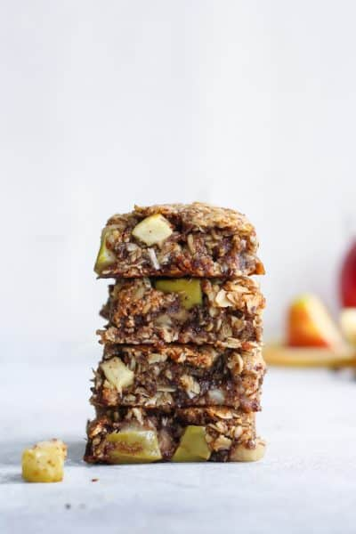 Vegan Apple Cinnamon Oatmeal Cookie Bars [gluten-free]