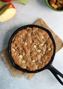 This Paleo Apple Pie Cookie Skillet comes together in no time! Perfect dessert for two.