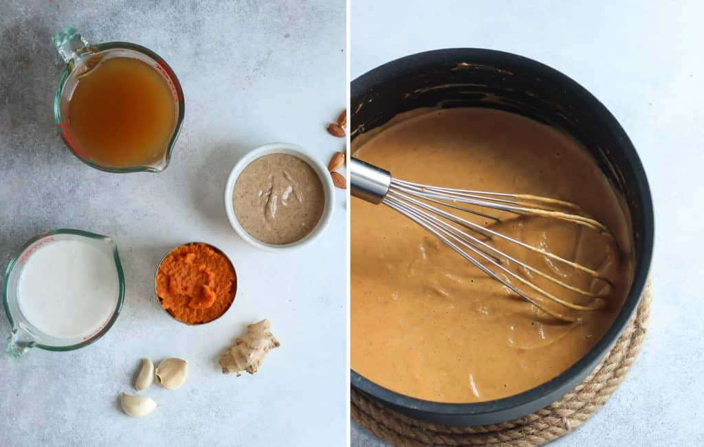 Simple ingredients, little time. This Almond Butter Pumpkin Soup is a must!