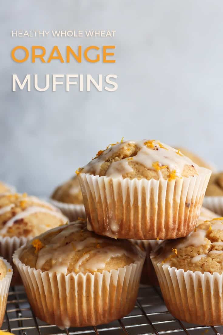 Whole Wheat Orange Muffins pinterest image
