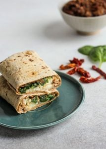 This Sun-Dried Tomato Spinach & Egg White Wrap is going to be your new favorite breakfast! Actually, I even eat this for dinner sometimes – it is so easy!