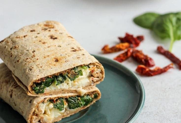 Sun-dried Tomato Pesto & Spinach Egg White Wrap
