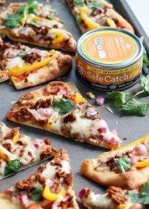 Tandoori Tuna Naan Pizza. Quick, easy and a delicious meal any day of the week.