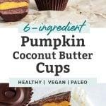 pumpkin coconut butter cups long pinterest