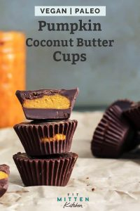 stacked pumpkin coconut butter cups