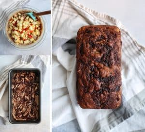 Loaded with apples and bursting with cinnamon, this quick bread loaf is a must. Apple Bread made with Greek yogurt and whole grain flour. Gluten-free friendly!