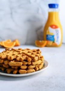 Trop50 in these healthy orange waffles! (sponsored)