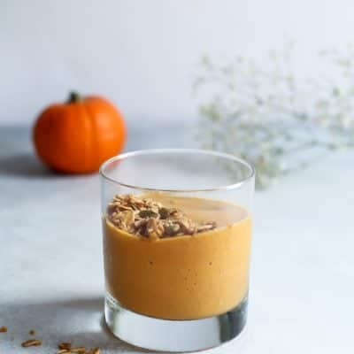 Chai Pumpkin Protein Smoothie [no powder!]