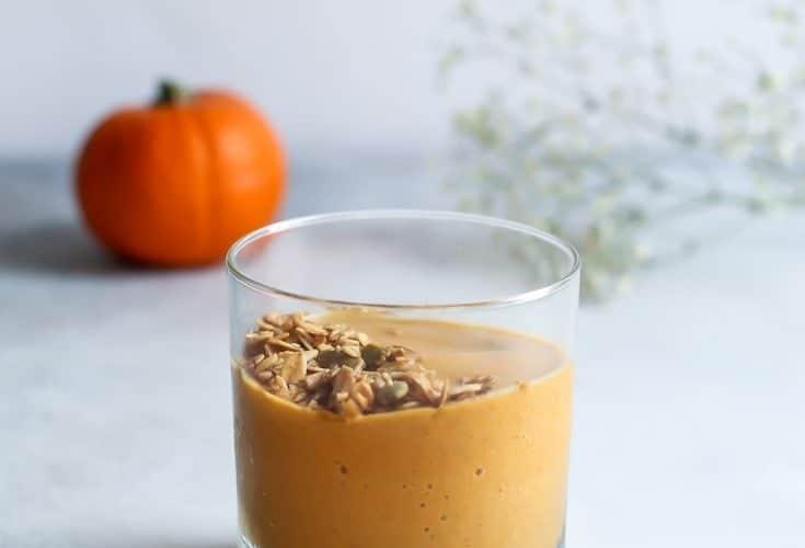 Chai Pumpkin Protein Smoothie [no powder!]