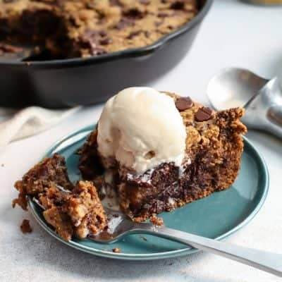 Paleo Deep Dish Chocolate Chip Pumpkin Cookie