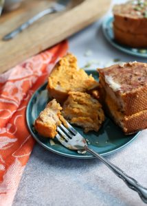 Stuffed French Toast! With pumpkin mascarpone for a delicious seasonal take on a brunch classic.
