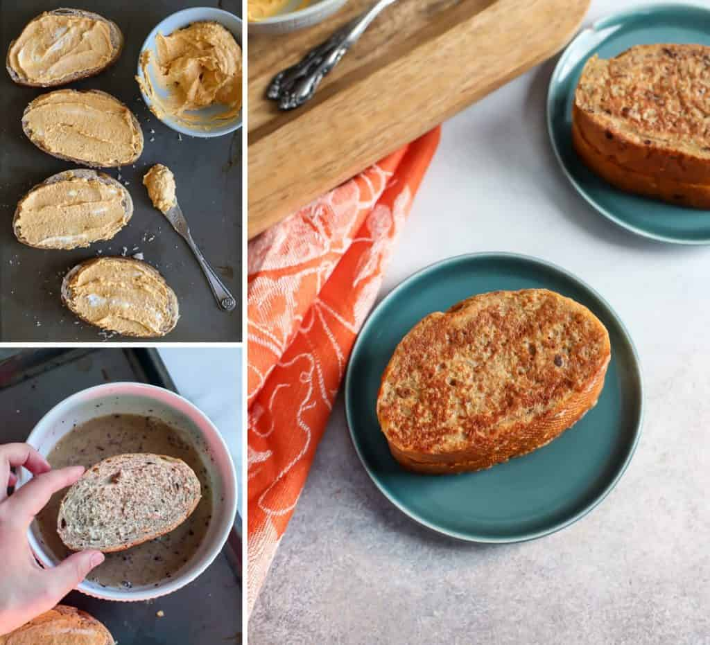 how to make pumpkin french toast collage