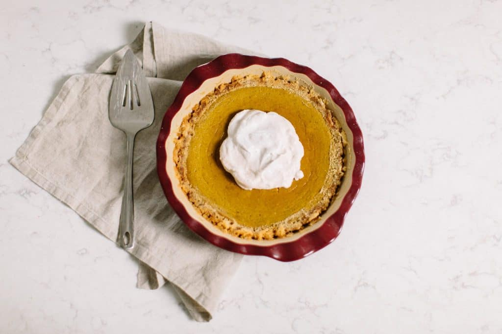 Paleo Pumpkin Pie. A simple recipe perfect for the holidays.