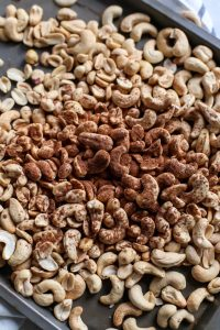 Homemade Pumpkin Spice Cashew Peanut Butter. Blending the best combo of nuts here!