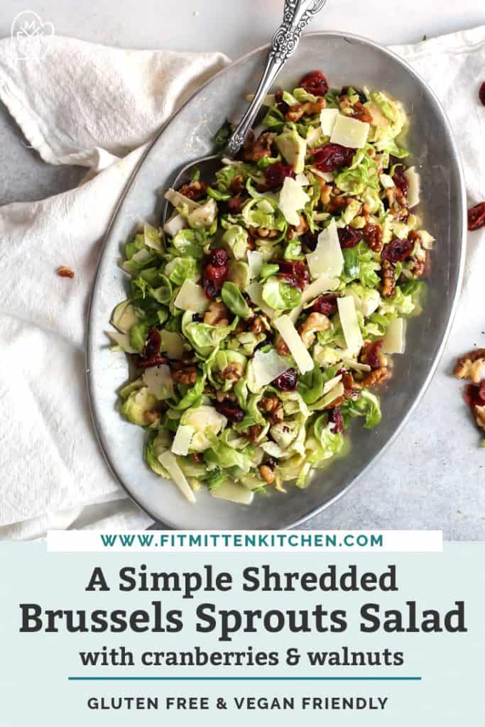 shredded brussels sprouts salad pin graphic