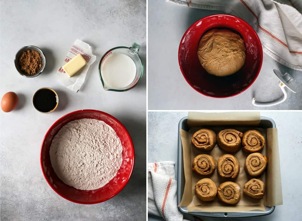 process for making homemade gingerbread cinnamon rolls