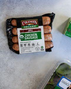 Coleman Organic Chicken Sausage, Apple flavor