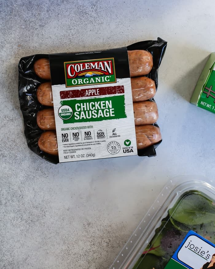 Coleman Organic Chicken Sausage, Apple flavor