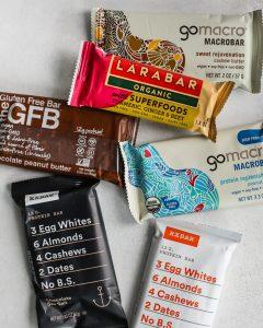 larabar, gluten free bar, gomacro, RXBAR