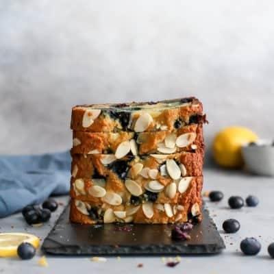 Paleo Almond Lemon Blueberry Bread
