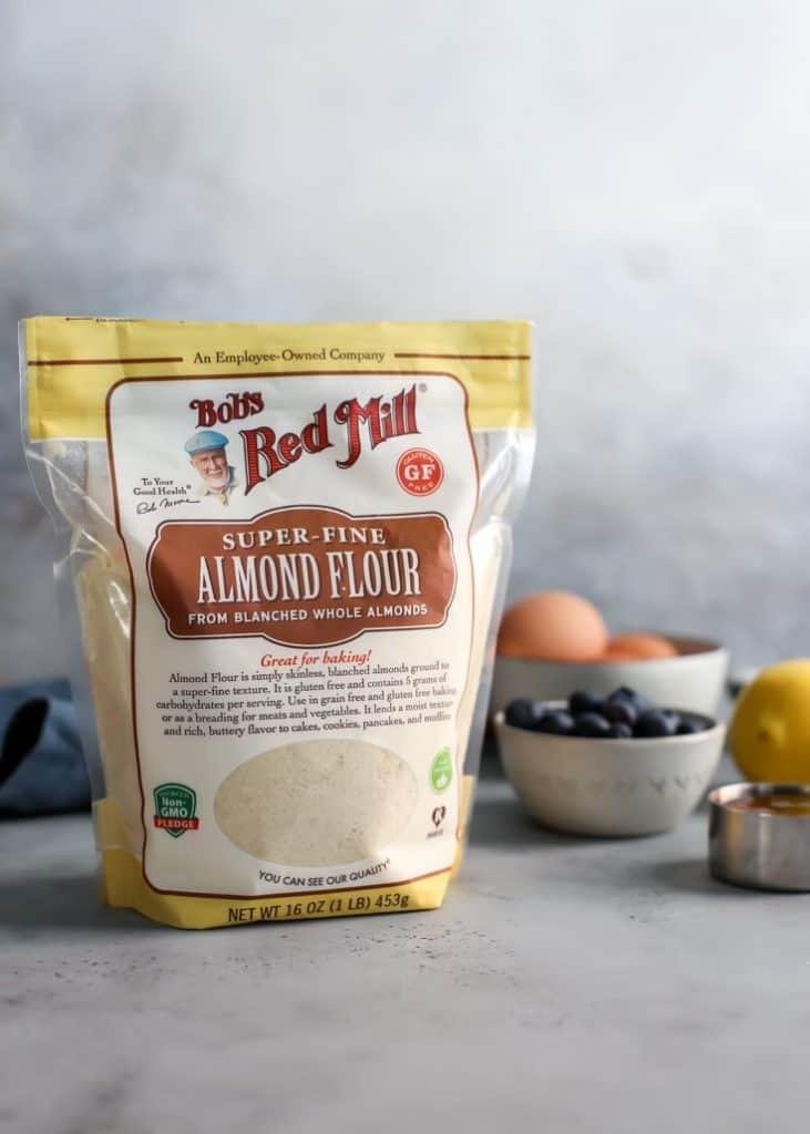 Paleo Almond Lemon Blueberry Bread Bob's Red Mill Almond