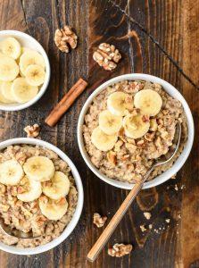 Banana Steel Cut Oatmeal - 18 Healthy Slow Cooker Recipes