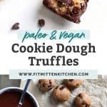 chocolate truffles with bite, mini chocolate chips