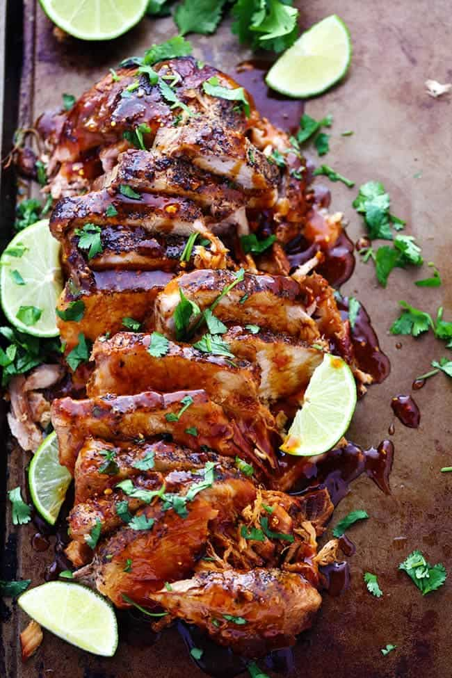 Honey Lime Ginger Pork - 18 Healthy Slow Cooker Recipes