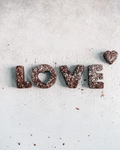 love shaped cut out healthier brownies