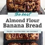 almond flour banana bread pinterest