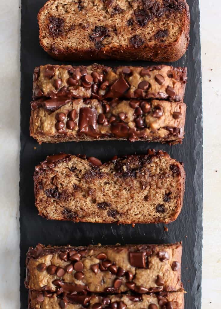 Almond Flour Banana Bread With Chocolate Chips Fit