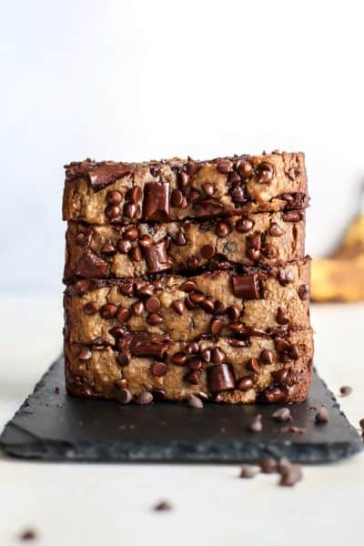 Almond Flour Paleo Banana Bread with Chocolate Chips