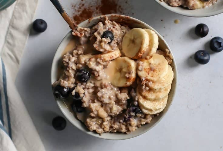 My Favorite Blueberry Banana Oatmeal [vegan, gluten-free]