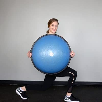 Descending Ladder Dumbbell BOSU Workout