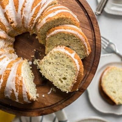 Gluten-free Lemon Poppy Seed Bundt Cake
