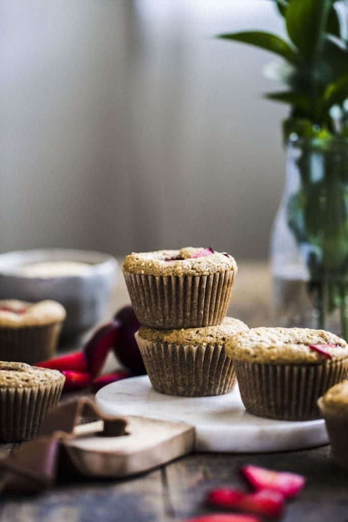 Almond Flour Plum Muffins