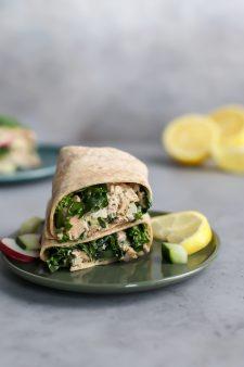 Fattoush Salad Inspired Lemon Pepper Tuna Wrap [paleo-friendly]