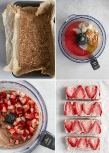 the process of making strawberry freezer fudge