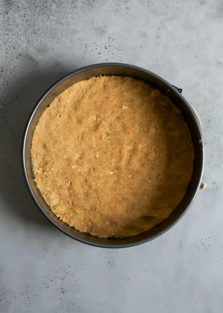 pre baked graham cracker crust for greek yogurt cheesecake