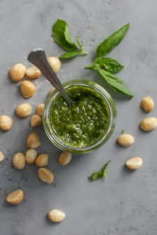 Quick & Easy Macadamia Nut Basil Pesto