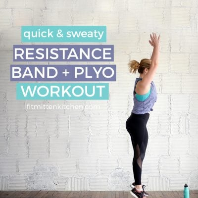 Quick & Sweaty Resistant Band + Plyo Workout