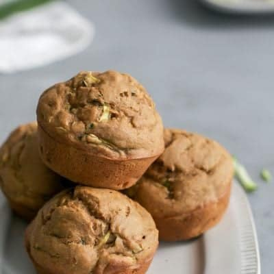 Soft & Fluffy Healthy Zucchini Muffins [dairy-free]