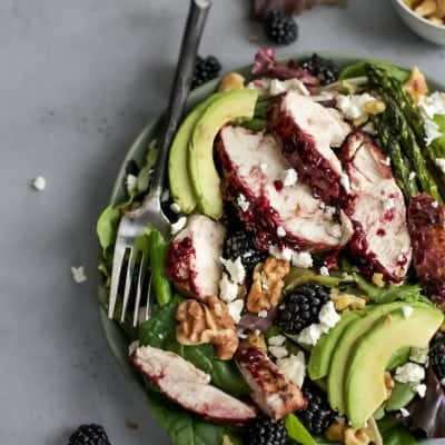 Grilled Blackberry Balsamic Chicken Salad [paleo-friendly]