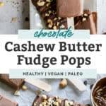 homemade healthy fudge pops on tray