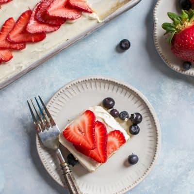 Patriotic Paleo Flag Cake {coconut flour sheet cake}