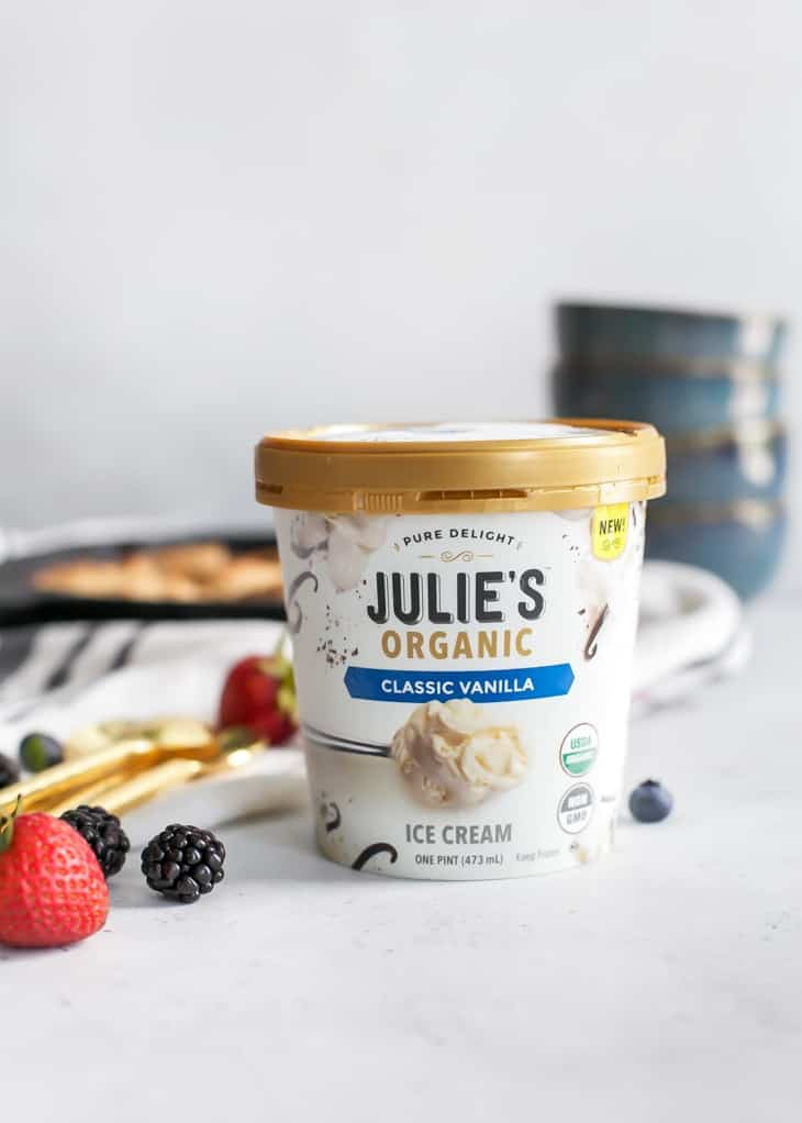 Julie's Organic Classic Vanilla Pint for berry cobbler